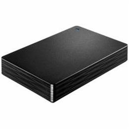 IOデータ HDPH-UT2DK USB 3.0/2.0対応ポータブルハードディスク「カクうす 波(なみ)」 ブラック 2TB【取り寄せ品キャンセル返品不可、割引不可】