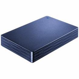 IOデータ HDPH-UT2DNV USB 3.0/2.0対応ポータブルハードディスク「カクうす 波(なみ)」 ミレニアム群青 2TB【取り寄せ品キャンセル返品不可、割引不可】