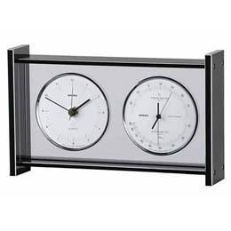 EMPEX スーパーEX ギャラリー温度・湿度・時計 EX-792 シルバー【取り寄せ品キャンセル返品不可、割引不可】