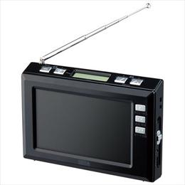 YAZAWA 4.3インチディスプレイ ワンセグラジオ(ブラック) TV03BK【取り寄せ品キャンセル返品不可、割引不可】
