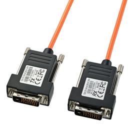 サンワサプライ DVI光ファイバケーブル(シングルリンク)50m KC-DVI-FB50【取り寄せ品キャンセル返品不可、割引不可】