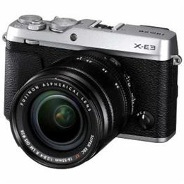 富士フイルム FX-E3LKS デジタルミラーレス一眼カメラ 「X-E3」 ズームレンズキット シルバー【取り寄せ品キャンセル返品不可、割引不可】