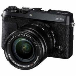 富士フイルム FX-E3LKB デジタルミラーレス一眼カメラ 「X-E3」 ズームレンズキット ブラック【取り寄せ品キャンセル返品不可、割引不可】