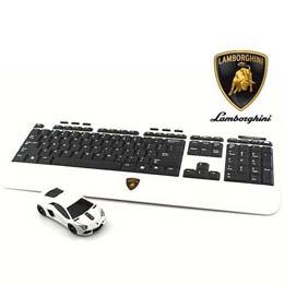 LANDMICE Lamborghini LP700 2.4G無線マウス+キーボード (ホワイト) LB-LP700KM-WH【取り寄せ品キャンセル返品不可、割引不可】