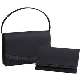 「絹印伝」使い日本製フォーマルバッグ(袱紗付)【取り寄せ品キャンセル返品不可、割引不可】