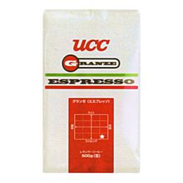 UCC上島珈琲 UCCグランゼエスプレッソ(豆)AP500g 12袋入り UCC301206000【取り寄せ品キャンセル返品不可、割引不可】