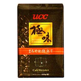 UCC上島珈琲 UCC極味 まろやか仕立て(豆)AP500g 12袋入り UCC310479000【取り寄せ品キャンセル返品不可、割引不可】
