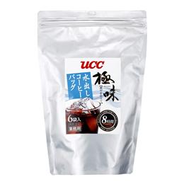 UCC上島珈琲 UCC極味 爽やか仕立て 水出しコーヒーバッグ 80g×6P 12袋入り UCC309845000【取り寄せ品キャンセル返品不可、割引不可】