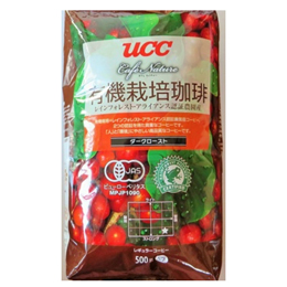 UCC上島珈琲 UCC CN有機+RA認証コーヒーダークロースト(豆)AP500g 12袋入り UCC302816000【取り寄せ品キャンセル返品不可、割引不可】