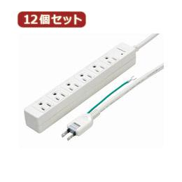 YAZAWA 【12個セット】 3Pマグネットタップ Y02JKP602WHX12【取り寄せ品キャンセル返品不可、割引不可】