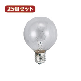 YAZAWA 【25個セット】 ベビーボール球60WクリアE26 G602660CX25【取り寄せ品キャンセル返品不可、割引不可】