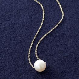 18金本真珠 スルーペンダント(8mm珠)【取り寄せ品キャンセル返品不可、割引不可】