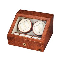 ローテンシュラガー 木製4連ワインディングマシーン LU30004RD【取り寄せ品キャンセル返品不可、割引不可】