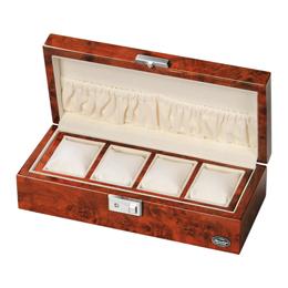 ローテンシュラガー 木製時計4本収納ケース LU51005RD【取り寄せ品キャンセル返品不可、割引不可】