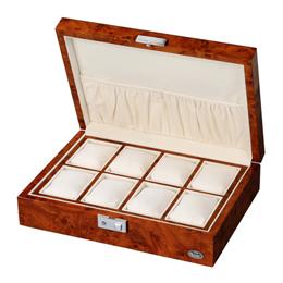 ローテンシュラガー 木製時計8本収納ケース LU51010RD【取り寄せ品キャンセル返品不可、割引不可】