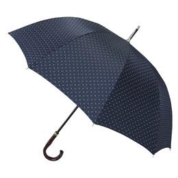 甲州織10本骨紳士手開長傘(ネイビー)【取り寄せ品キャンセル返品不可、割引不可】
