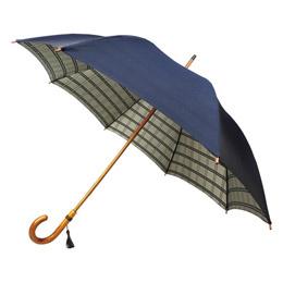 甲州織 裏格子樫棒手開き長傘 M81112917【割引サービス不可、取り寄せ品キャンセル返品不可、突然終了欠品あり】