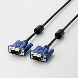 5個セット エレコム RoHS準拠 D-Sub15ピン(ミニ)ケーブル CAC-15BK/RSX5【割引サービス不可、取り寄せ品キャンセル返品不可、突然終了欠品あり】