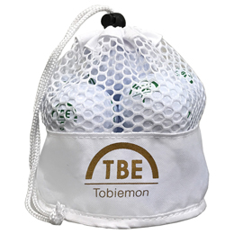 12個セット TOBIEMON 2ピース カラーボール メッシュバック入り ホワイト TBM-2MBWX12【割引サービス不可、取り寄せ品キャンセル返品不可、突然終了欠品あり】