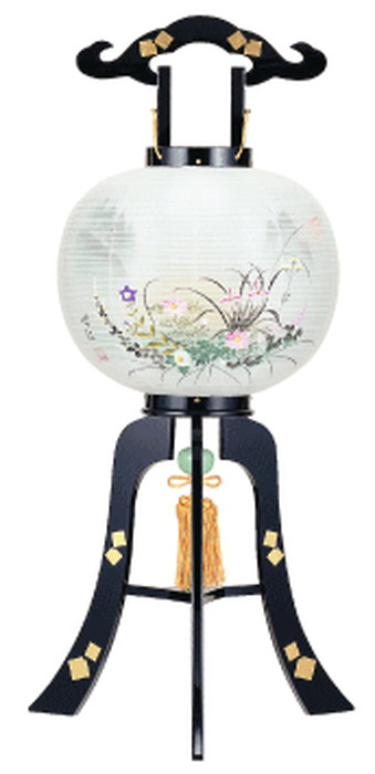 【メーカー直送・大感謝価格】行灯提灯 絹二重張り 光琳 約33×84cm 1800g