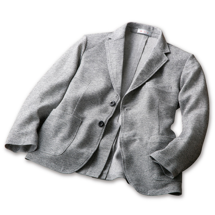 【大感謝価格 】mij エムアイジェイ 美濃和紙ニットジャケット SA-2000 グレー M/L/LL 日本製