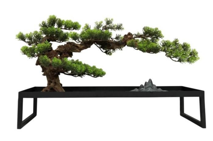 【メーカー直送・大感謝価格 】植物インテリア AT-55-028 W600×D300×H400 artificial bonsai
