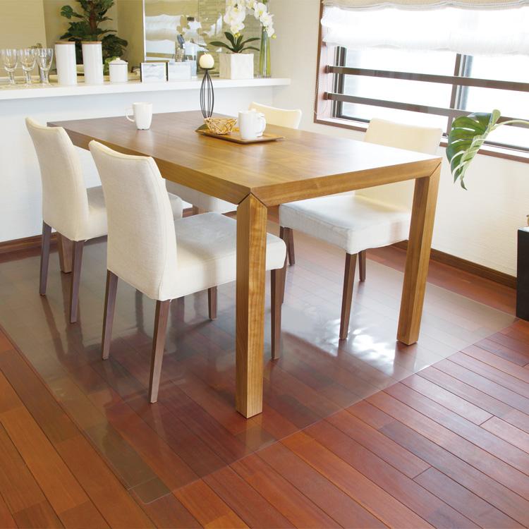 【直送品·大感謝価格 】Achilles 透明ダイニングテーブル下保護マット 180cm幅タイプ 180×150cm