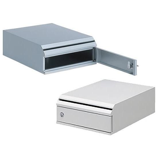 【大感謝価格】 ぶんぶく 機密書類回収ボックス 卓上タイプ KIM-S シルバーメタリック・5 【返品キャンセル不可】