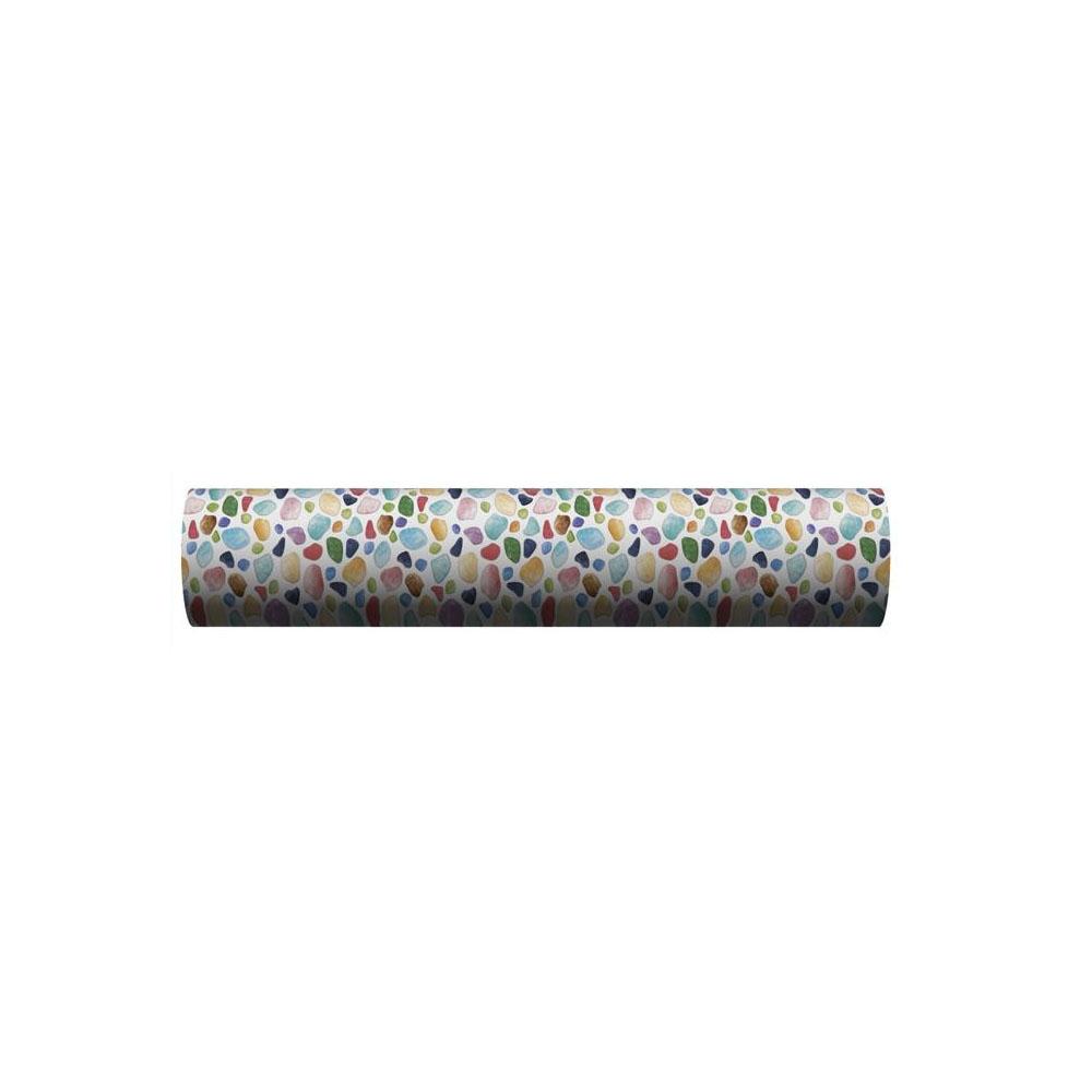 【大感謝価格】 貼ってはがせる床用 リノベシート ロール物 一反 ブルー カラフルガラス 90cm幅×20m巻 REN-06R 【返品キャンセル不可】