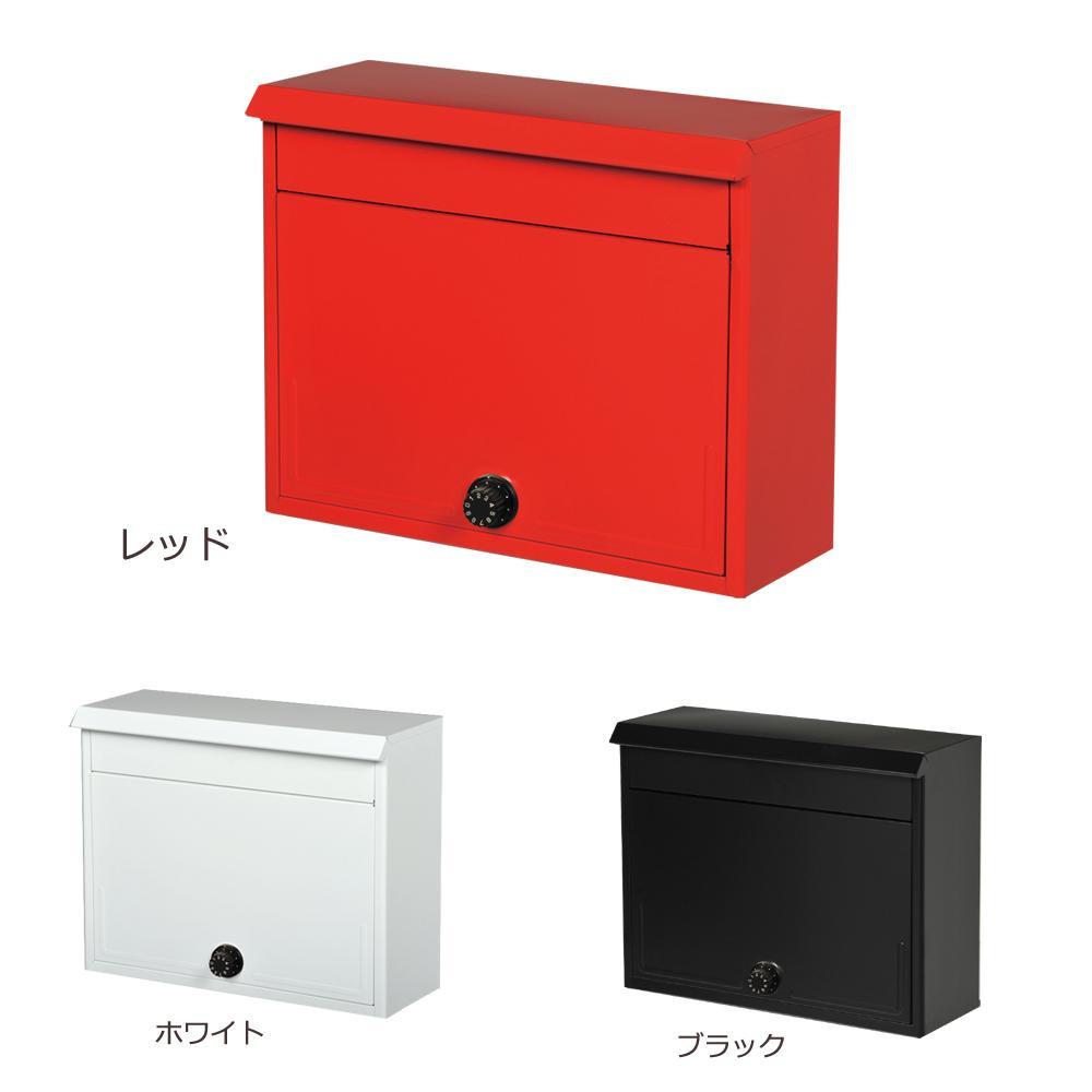 【大感謝価格】 KGY セレクトカラーポスト ダイヤル錠付 SG-2800L RE・レッド 【返品キャンセル不可】
