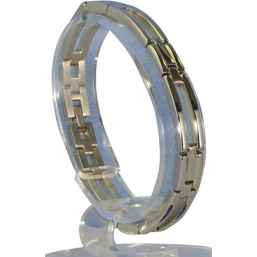 【大感謝価格】MARE(マーレ) ゲルマニウム4個付ブレスレット PT/IP ミラー 112G S (17.5cm) H9246-07S【お寄せ品、返品キャンセル不可】