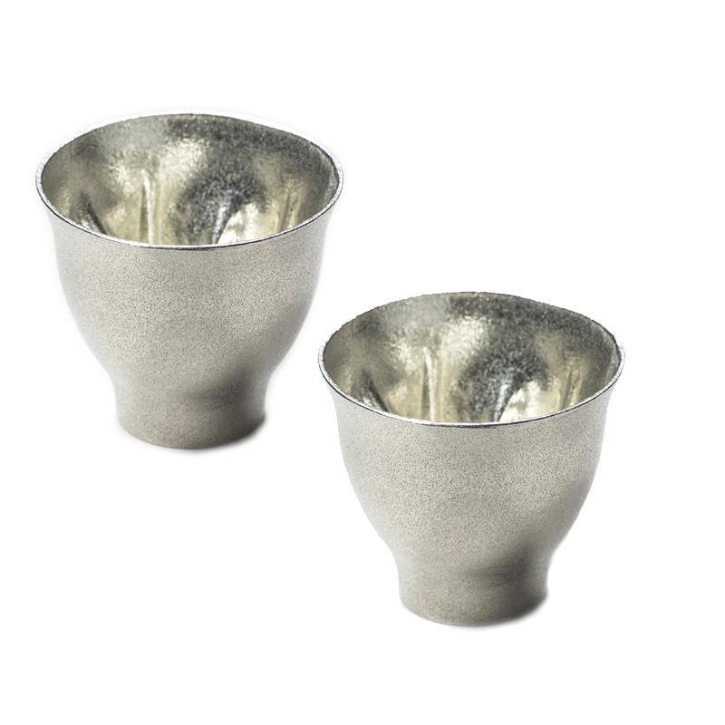 【大感謝価格】hiracle さくら錫 ぐい呑み2個セット【お寄せ品、返品キャンセル不可】