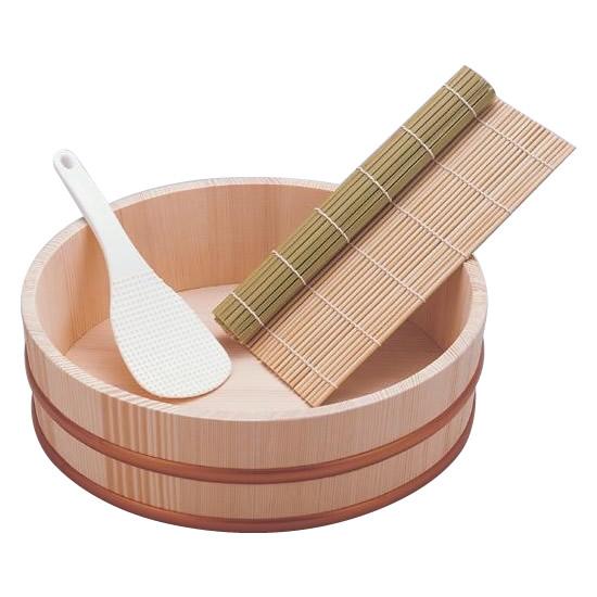 【2個セット】【大感謝価格】 寿司桶セット 3合用 110-504 【返品キャンセル不可】