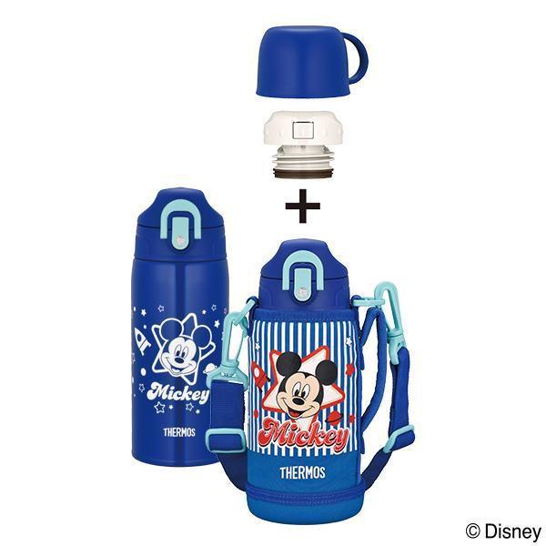 【2個セット】【大感謝価格】THERMOS(サーモス) 真空断熱2ウェイボトル ミッキー BL・ブルー FHO-601WFDS【お取り寄せ品、返品キャンセル不可】