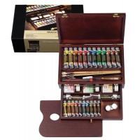 【大感謝価格】 REMBRANDT レンブラント油絵具 ラグジュアリーボックス24色セット T0184-0002 410863 【お取り寄せ品、返品キャンセル不可】