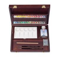 【大感謝価格】 REMBRANDT レンブラント固形水彩絵具 ラグジュアリーボックス28色セット T0584-0003 410880 【お取り寄せ品、返品キャンセル不可】