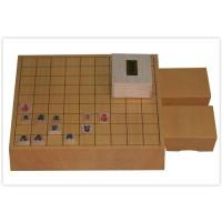 【大感謝価格】 将棋セット 新かや二寸卓上セット 楓漆書・ヒバ二寸駒台 【返品キャンセル不可】