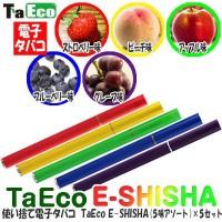 【大感謝価格】 使い捨て電子タバコ TaEco E-SHISHA 5味アソート ×5セット ESS-801SET 【返品キャンセル不可】