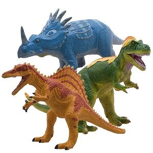 【メーカー直送・大感謝価格 】ビニールモデルお洒落恐竜3体セット FDS-0005 70666-70686-70687