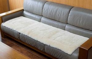 【メーカー直送・大感謝価格 】ムートンクッション ロングサイズ 約45×145cm 1枚 ベージュorローズ