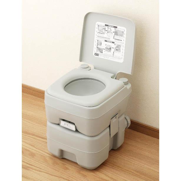【メーカー直送・大感謝価格 】本格派ポータブル水洗トイレ 20L