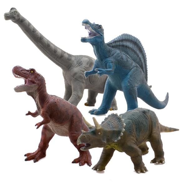 【メーカー直送・大感謝価格 】恐竜 ビニールモデル プレミアムエディション 4種類セット