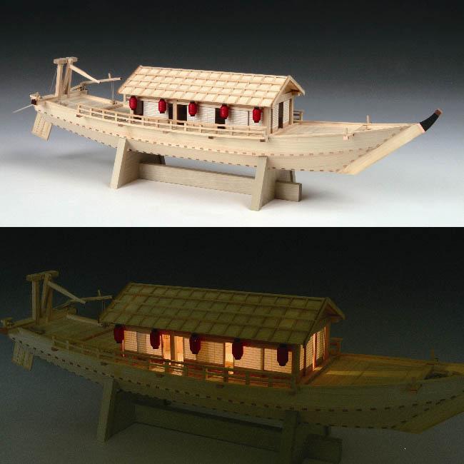大感謝価格『木製模型 1/24 屋形船』『メーカー直送品。代引不可・同梱不可・返品キャンセル・割引不可』組み立てる インテリア ホビー ツール アイテム グッズ 木製模型 1/24 屋形船送料無料