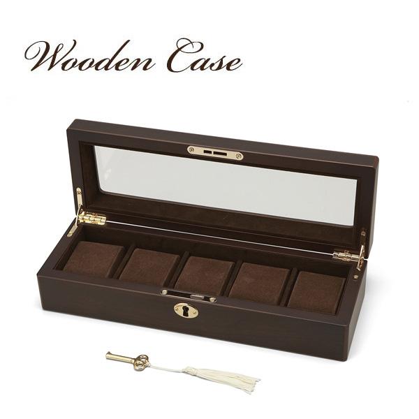 大感謝価格『Wooden Case(ウッデン・ケース) 木製ウォッチケース(5本用) 856-120 (346シリーズ)』『メーカー直送品。代引不可・同梱不可・返品キャンセル・割引不可』腕時計 収納 スタイリッシュ デザイン インテリア アイテム送料無料