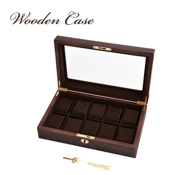 大感謝価格『Wooden Case(ウッデン・ケース) 木製ウォッチケース(10本用) 856-121 (346シリーズ)』『メーカー直送品。代引不可・同梱不可・返品キャンセル・割引不可』腕時計 収納 スタイリッシュ デザイン インテリア アイテム送料無料