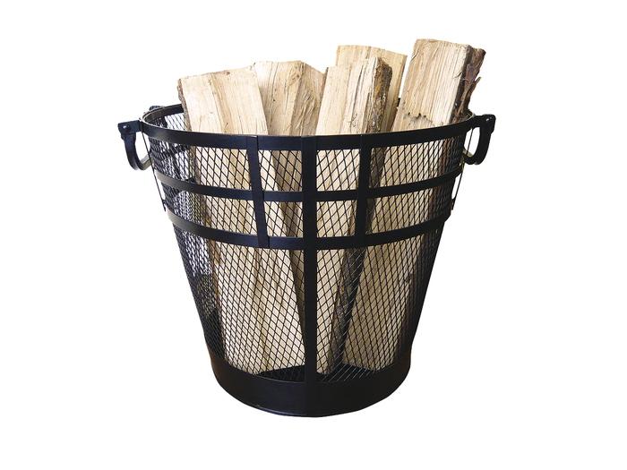 【メーカー直送・大感謝価格】ログツール&ログキャリー メッシュ ログバスケット PA8701 (φ38.0cm~φ27.5cm)×H33.5cm