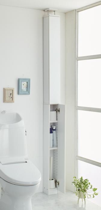 【メーカー直送・大感謝価格】トイレタワーラック つっぱり式 24650 組立式 W15×D15×H217~230cm Kuroshio Selection 2018