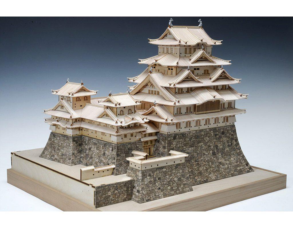 【メーカー直送・大感謝価格】木製建築模型 1/150 姫路城(改良版) 完成サイズ 全幅440mm×奥行390mm×全高347mm