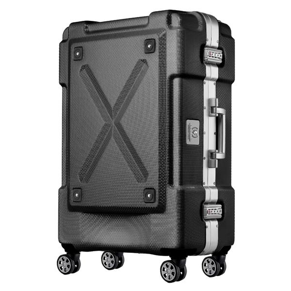 【メーカー直送・大感謝価格】背面収納付きスーツケース アウトドア 6303-69 ブラック/ホワイト 6303-69-BK/6303-69-WH LEGEND WALKER OUTDOOR
