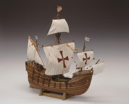 【メーカー直送・大感謝価格】木製帆船模型 1/50 サンタマリア 完成サイズ 全長604mm×全幅350mm×全高627mm